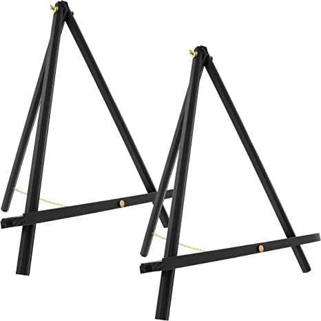 """6 Pack of Mini Wood 8/"""" Tabletop Art Craft Display Easels BLACK Wooden Finish"""