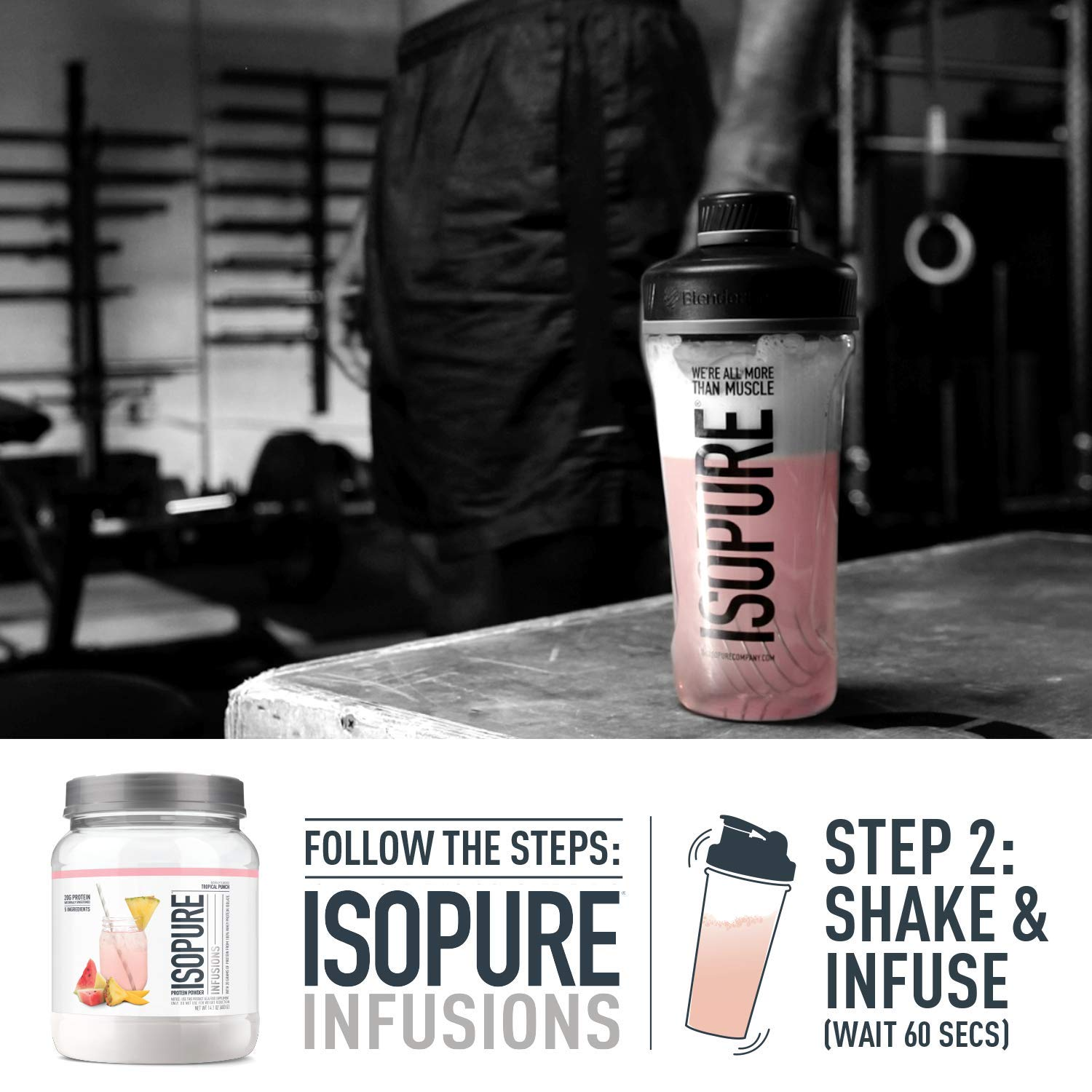 ISOPURE INFUSIONS, Refreshingly Light Fruit Flavored Whey Protein Isolate Powder, ''Shake Vigorously & Infuses in a Minute'', Citrus Lemonade, 16 Servings by Isopure (Image #4)