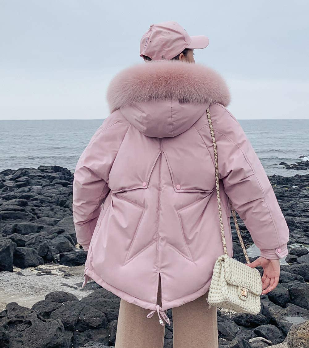 WJINNSH Coats Jackets,Women Parkas Winter Ladies Casual Long Coats Woman Jackets Winter Women Hooded Cotton Warm Coat Outerwear size Pink