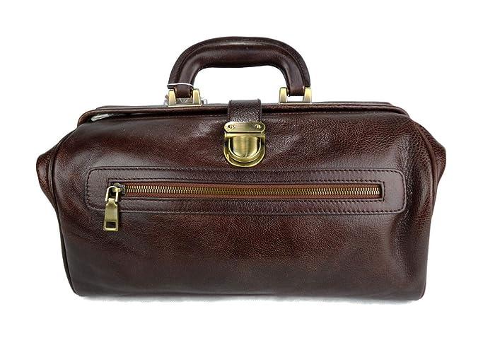 670c0b338cf8 Amazon.com: Leather doctor bag medical bag handbag ladies men ...