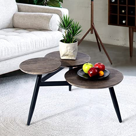 Pleasant Amazon Com Furniturer Architectural Coffee Table With Three Machost Co Dining Chair Design Ideas Machostcouk