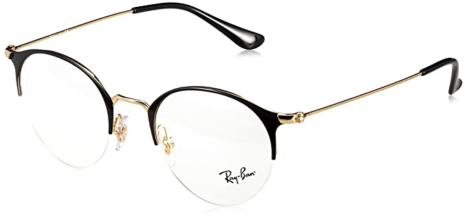 bbd8c0e0d Ray-Ban Unisex Adults' 0RX 3578V 2890 48 Optical Frames, (Gold Top ...