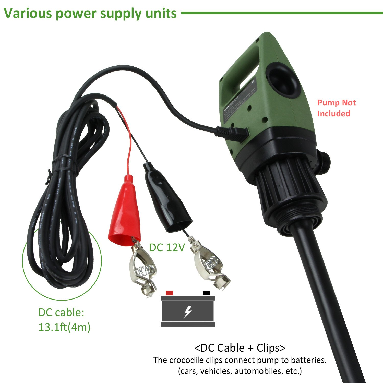TERA PUMP DC Cable for Car/Marine Battery