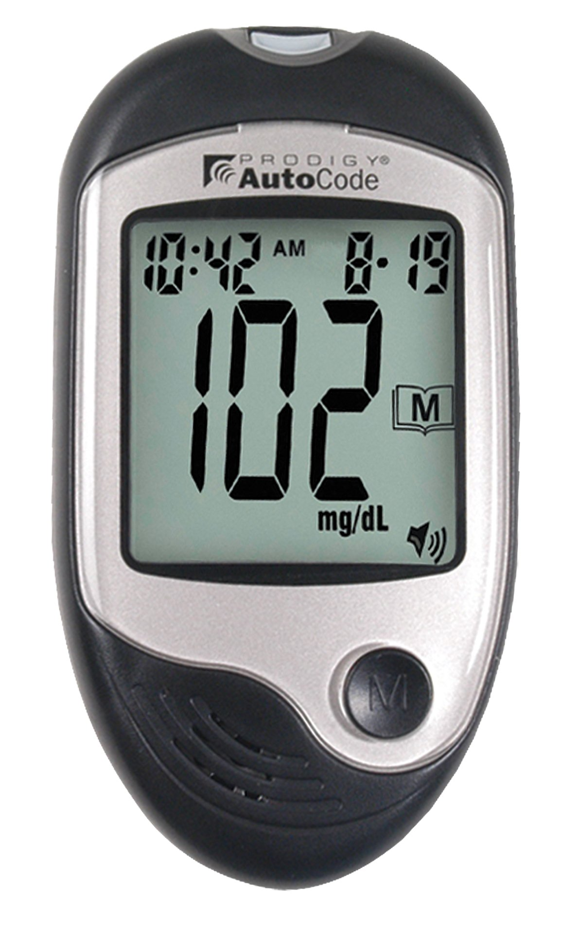 Prodigy Glucose Monitoring System For Diabetic Insulin Management, Auto code Talking Glucose Testing Meter