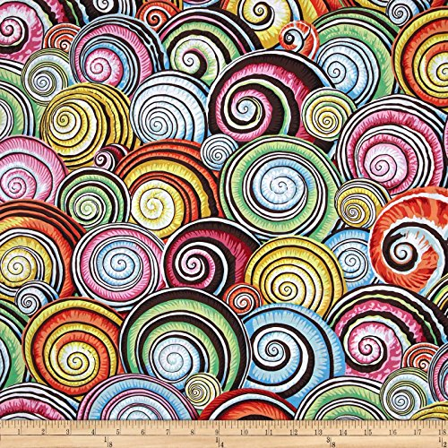 - FreeSpirit Fabrics Multi Kaffe Fassett Spiral Shells Fabric by The Yard,