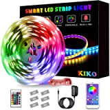 LED Light Strip, KIKO Color Changing Led Lights 20ft/6m SMD 5050 RGB Strips Lights with Bluetooth and Remote Controller…