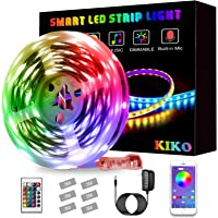 LED Light Strip, KIKO Color Changing Led Lights 21.3ft/6.5m SMD 5050 RGB Strips Lights with Bluetooth and Remote…