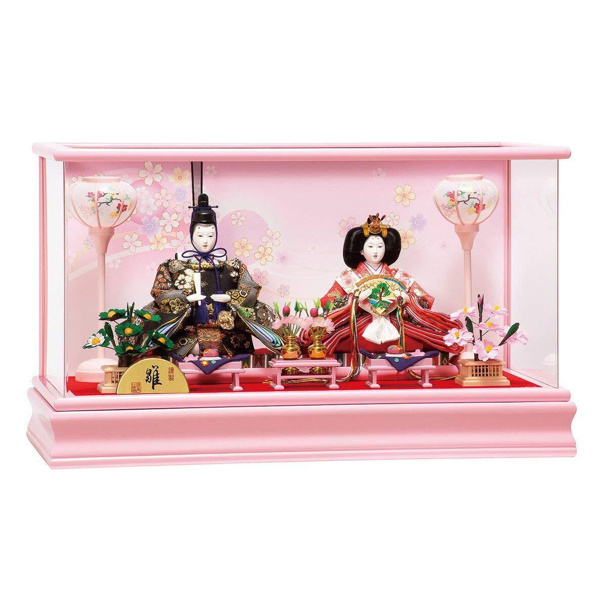 雛人形 真理 三五親王 アクリルケース飾り ひな人形 ケース飾り 平安豊久 HNH-333548 HD-165   B07KD12XZC