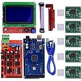 Biqu Mega2560Scheda di controllo + controllo Display Smart grafico LCD 12864 + Ramps 1,4 Mega Shield + driver motore passo-passo A4988 con dissipatore di calore per stampante 3D Arduino Reprap