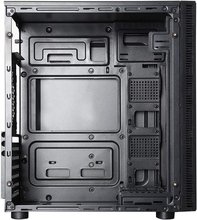 ionz - Case per computer da gaming, formato mid tower, standard ATX, con pannelli in vetro temperato davanti e su un lato Misura standard.