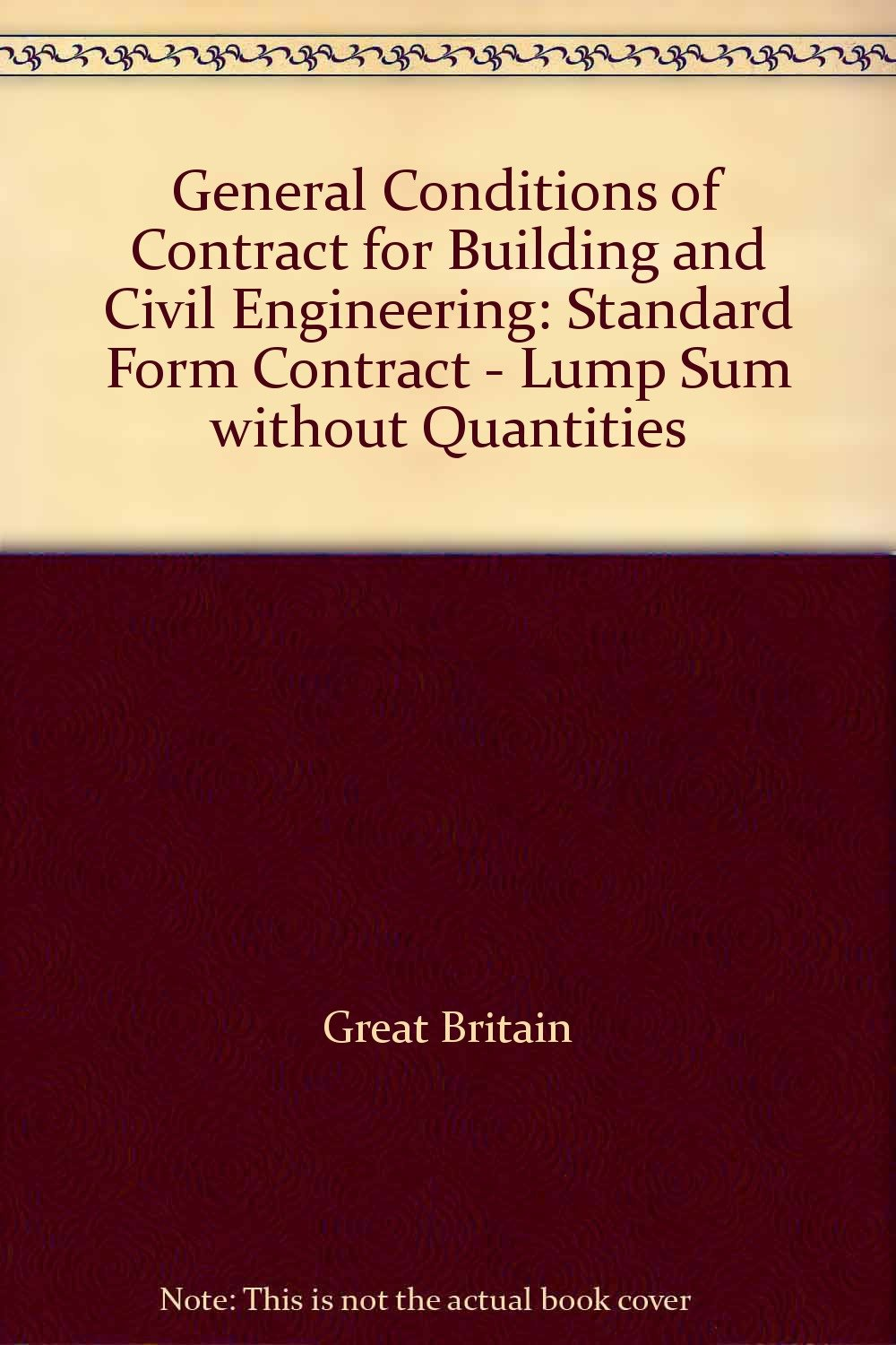 Buy General Conditions Of Contract For Building And Civil