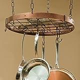 "Rogar 8043 Gourmet 20"" Round Pot Rack with Grid"