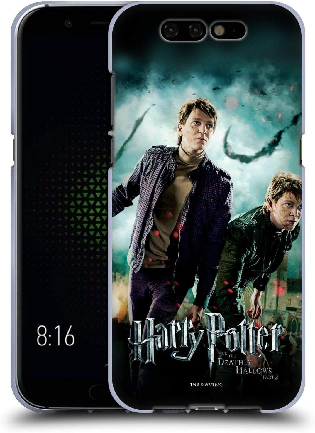 Head Case Designs Oficial Harry Potter Fred & George Weasley Deathly Hallows VIII Carcasa de Gel de Silicona Compatible con Xiaomi Black Shark