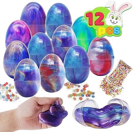 Assortis Pr/éremplis 12 /œufs de P/âques avec 12 Lapins Mignons et Color/és /à Remonter et Jouets de Poulet JOYIN 12 Jouets Remplis dOeufs de P/âques