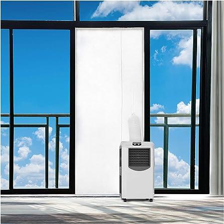 Rhodesy Aislamiento de Ventanas para Aire Acondicionado Móvil y Secadora, Adecuado para Unidad de Aire Acondicionado Portátil, Parada de Aire Caliente (90x210cm): Amazon.es: Bricolaje y herramientas