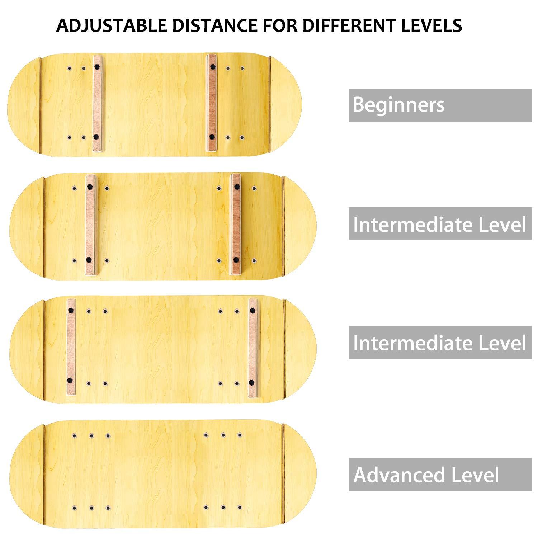 Nalanda Balance Board Trainer pour Formation d/équilibre Les Abdominaux Les Jambes Les Bras Planches d/équilibre Am/éliore la Force Abdominale Fitness Exercice Coordination lexercice