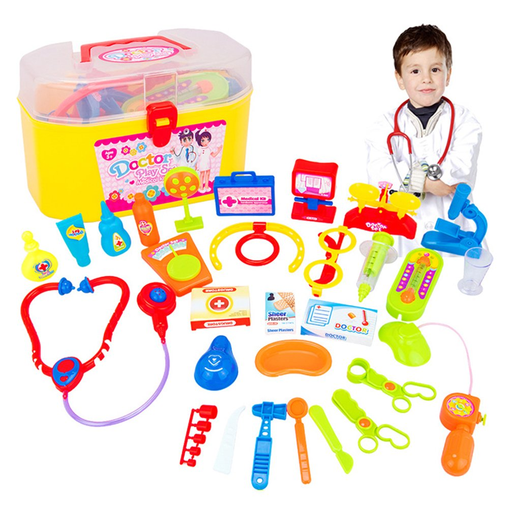 Amazon.com: Qiyun 30 Pcs Doctor Nurse Medical Kit traje de ...