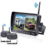 FHD 1080P Digital Wireless Dual Backup Camera 7'' DVR Monitor Kit High-Speed Rear Observation System for Trailer/RV…