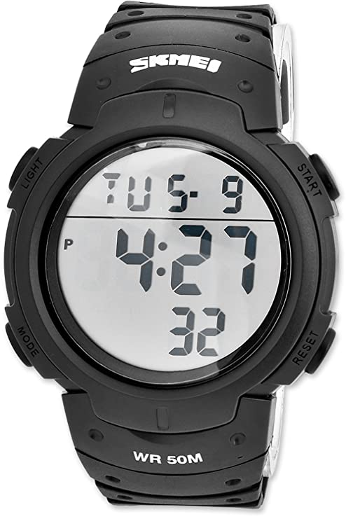 DSstyles Reloj militar para hombre Reloj digital resistente al agua 5ATM con reloj deportivo grande -