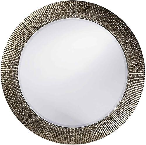 Howard Elliott 21117 Bergman Round Mirror, Small, Silver