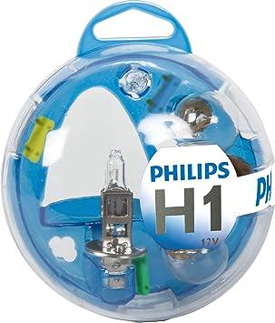 Philips 55717EBKM Essential Box - Caja de bombillas de recambio para coches (H1): Amazon.es: Coche y moto
