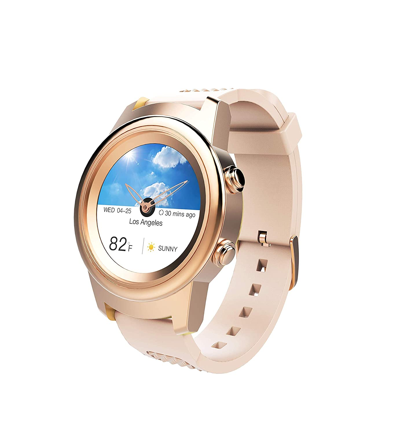 3Plus Callie Hybrid SmartWatch for Women, 30 Day Battery Heart Rate Monitor, Pedometer, TFT Vibrant Display, Sleep Tracker, Calorie Step Counter, Music Controls, for iPhone and Android Rose Gold