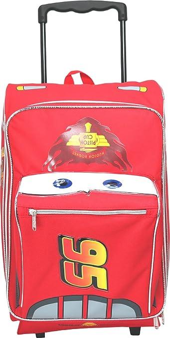 Amazon Com Disney Pixar Cars 2 Rolling Lightning Mcqueen Luggage Suitcase Kids Luggage