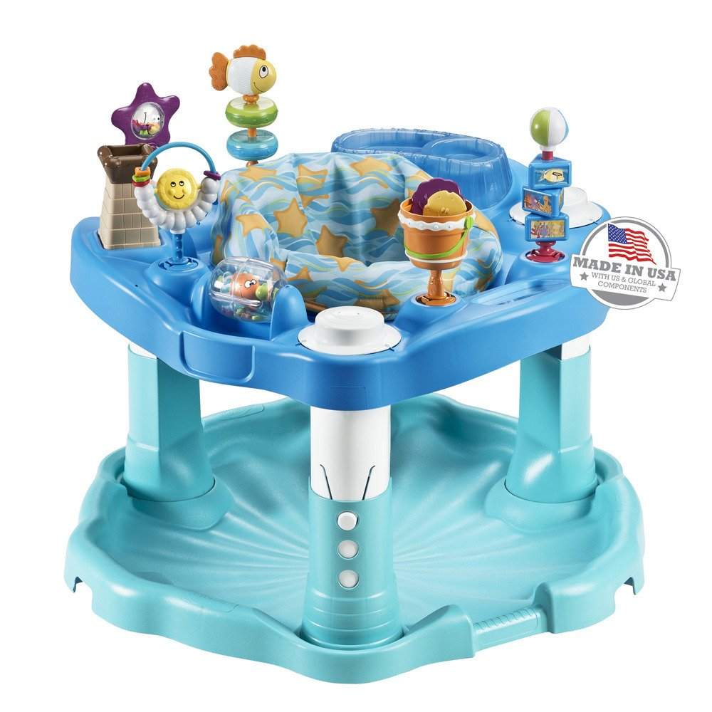 Evenflo Exersaucer Activity Saucer, Beach Baby - Exersaucer for Baby