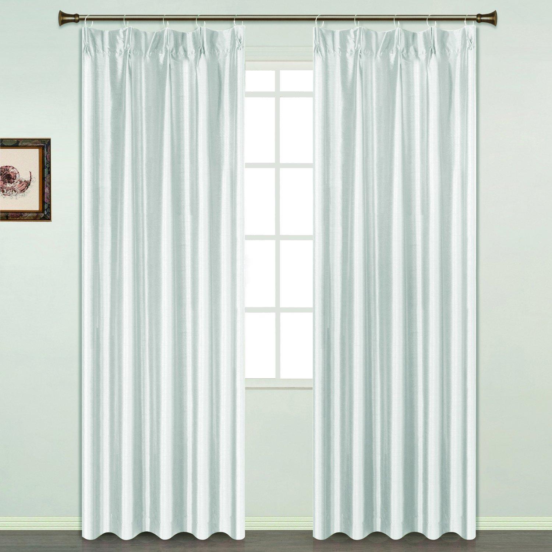 United Curtain Anna Window Curtain Panel 54 by 84-Inch Blue AN84BL