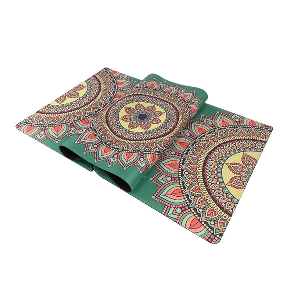 Tatkldisu Yogamatte, Gummi, 35 mm, umweltfreundliche Trainingsmatte Yogamatte. (Farbe : Grün)