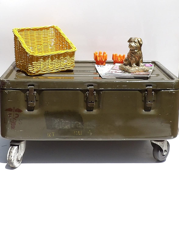 Amazon.com: Military Trunk Coffee Table Foot Locker On Wheels: Handmade