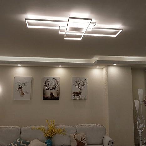 Rettangolo in alluminio moderno LED plafoniere per soggiorno camera ...