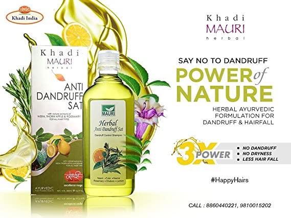KHADI Champú Anticaspa Herbal de 500 ml - Anticaída del ...