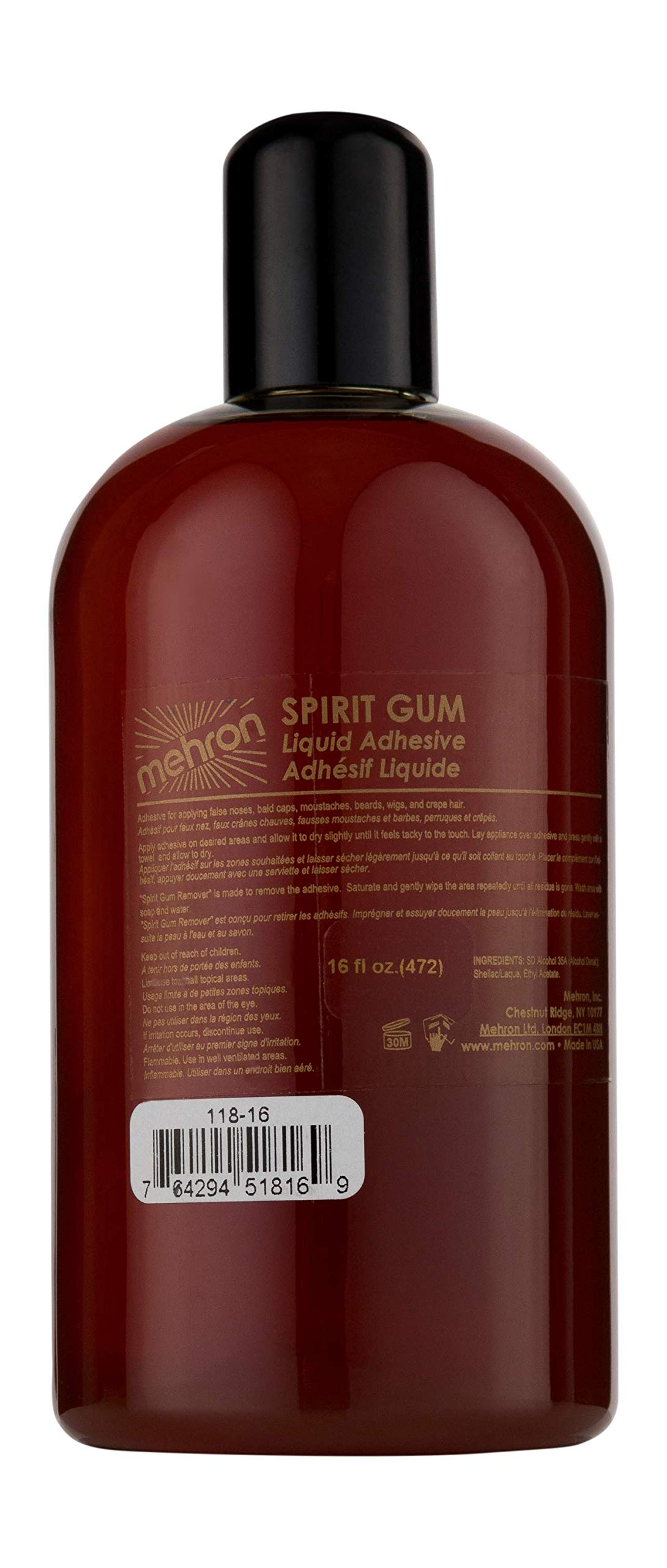 Mehron Makeup Spirit Gum (16 ounce)