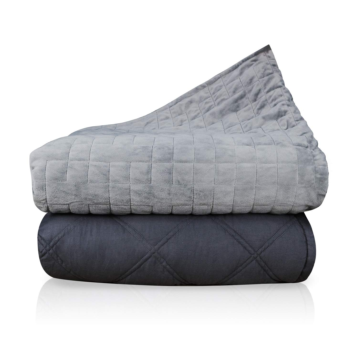 """80/""""x60/"""" Cozy Removable Blanket Cover -Queen Size Dual-Sided Dual-Purpose Throw Blanket Duvet Cover for Weighted Blanket Abida Blanket -Grey"""