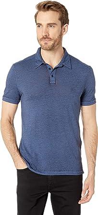 b9ae621a John Varvatos Star U.S.A. Mens Short Sleeve Burnout Polo with Peace Sign