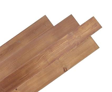 Kingsman Hardware DIY Peel and Stick Reclaimed Barn Wood Plank Wall Panel  10pcs per Box Cover 16sqft (Natural)