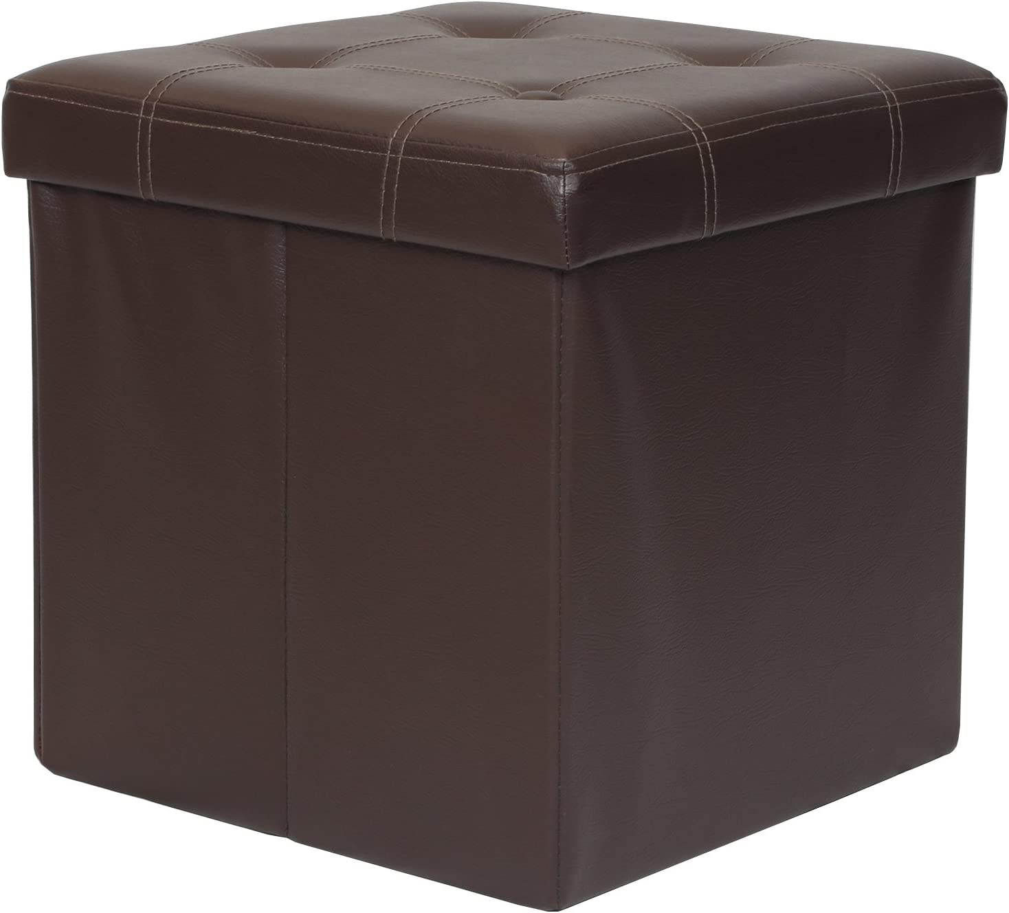 Otto u0026 Ben 15  Storage Ottoman - Folding Toy Box Chest Memory Foam Seat  sc 1 st  Amazon.com & Ottomans u0026 Storage Ottomans | Amazon.com