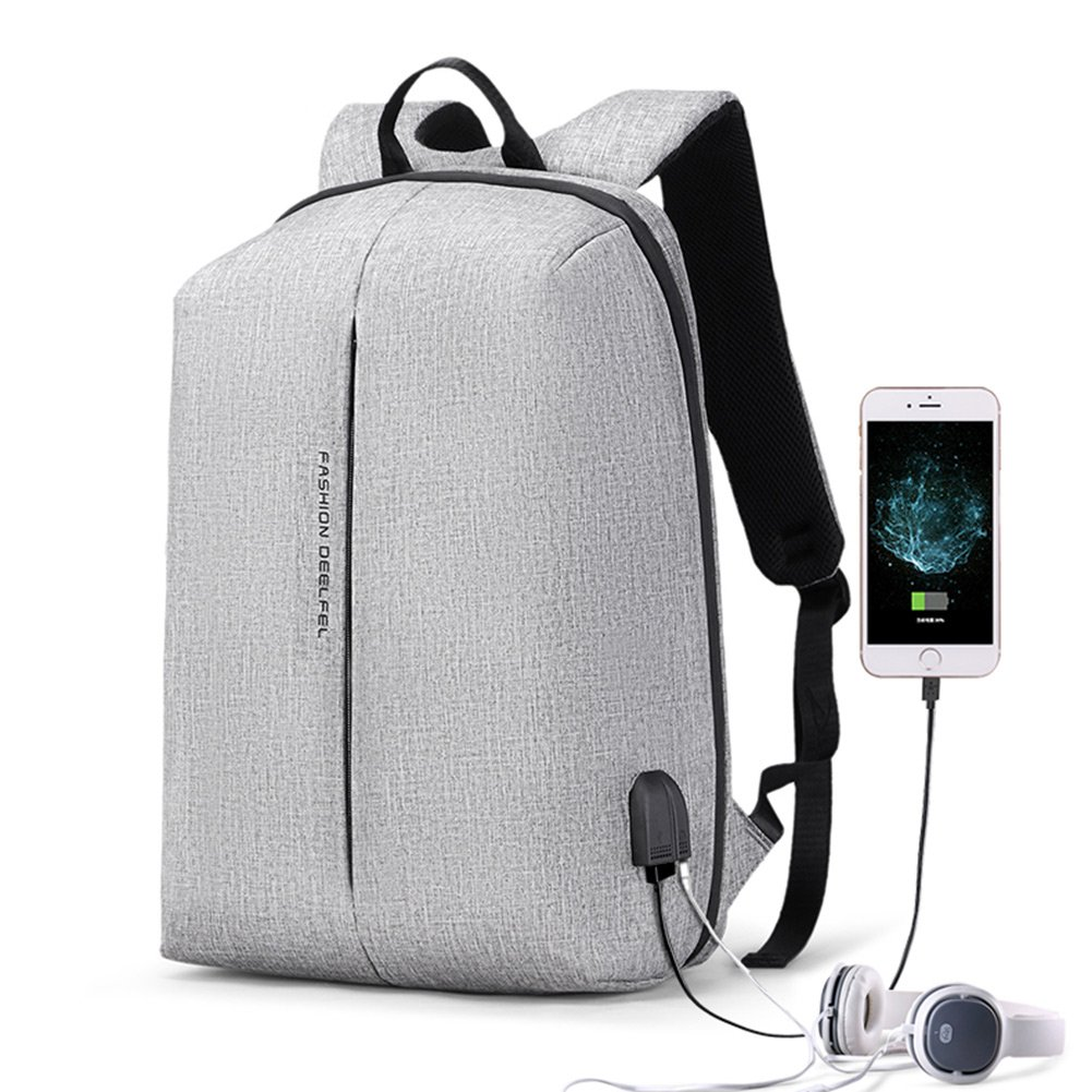 Anti Theft Laptop Backpack for Men & Women with USB Charging Port Headphone Waterproof Slim 15.6'' Computer Backpack Fit for School College Travel Business