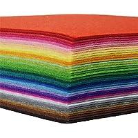 flic-flac 42pcs Felt Fabric Sheets 1mm Assorted Color Felt Pack DIY Craft Sewing Squares Nonwoven Patchwork (10cm * 10cm…