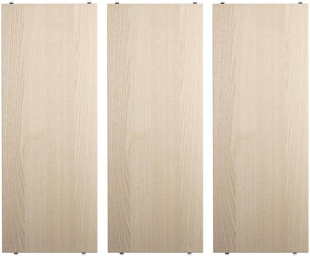 String System Regalb/öden 3er Set 58x30cm eiche natur BxHxT 58x2x30cm