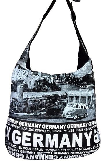 Canvas Umhängetasche Germany in schwarz (Maße: LxHxT 38x35x12 cm) Robin Ruth QAz0c