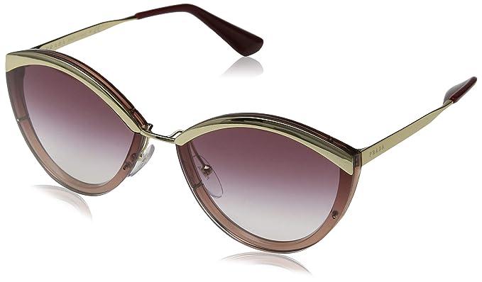 Prada 0PR 07US Gafas de sol, Gold/Pink, 64 para Mujer ...