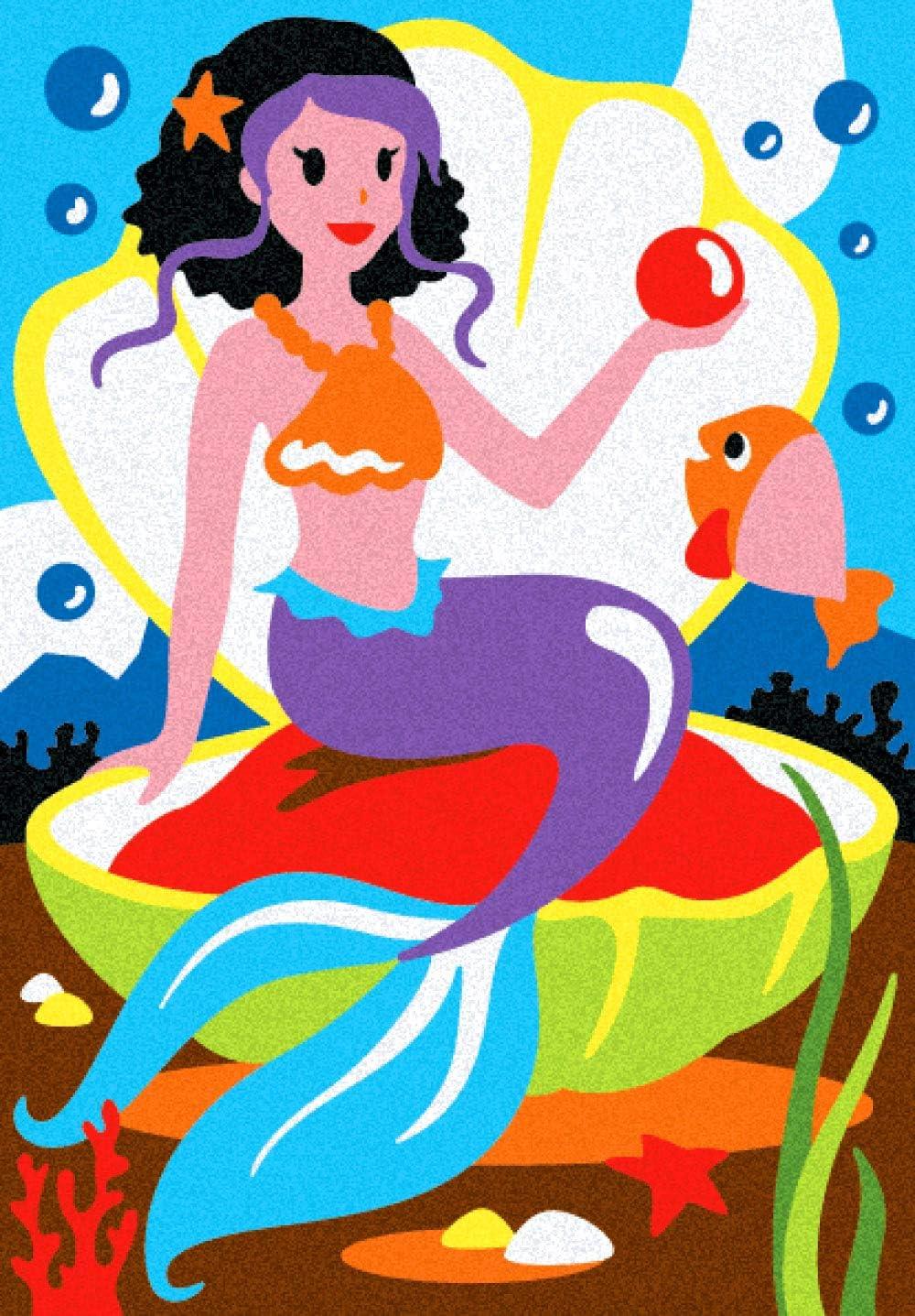 Album Il /était Une Fois: 5 Dessins pr/éencoll/és /à colorier avec Le Sable Convient pour Les Enfants Ans 5+ Sable Non Inclus Sabbiarelli Sand-it for Fun