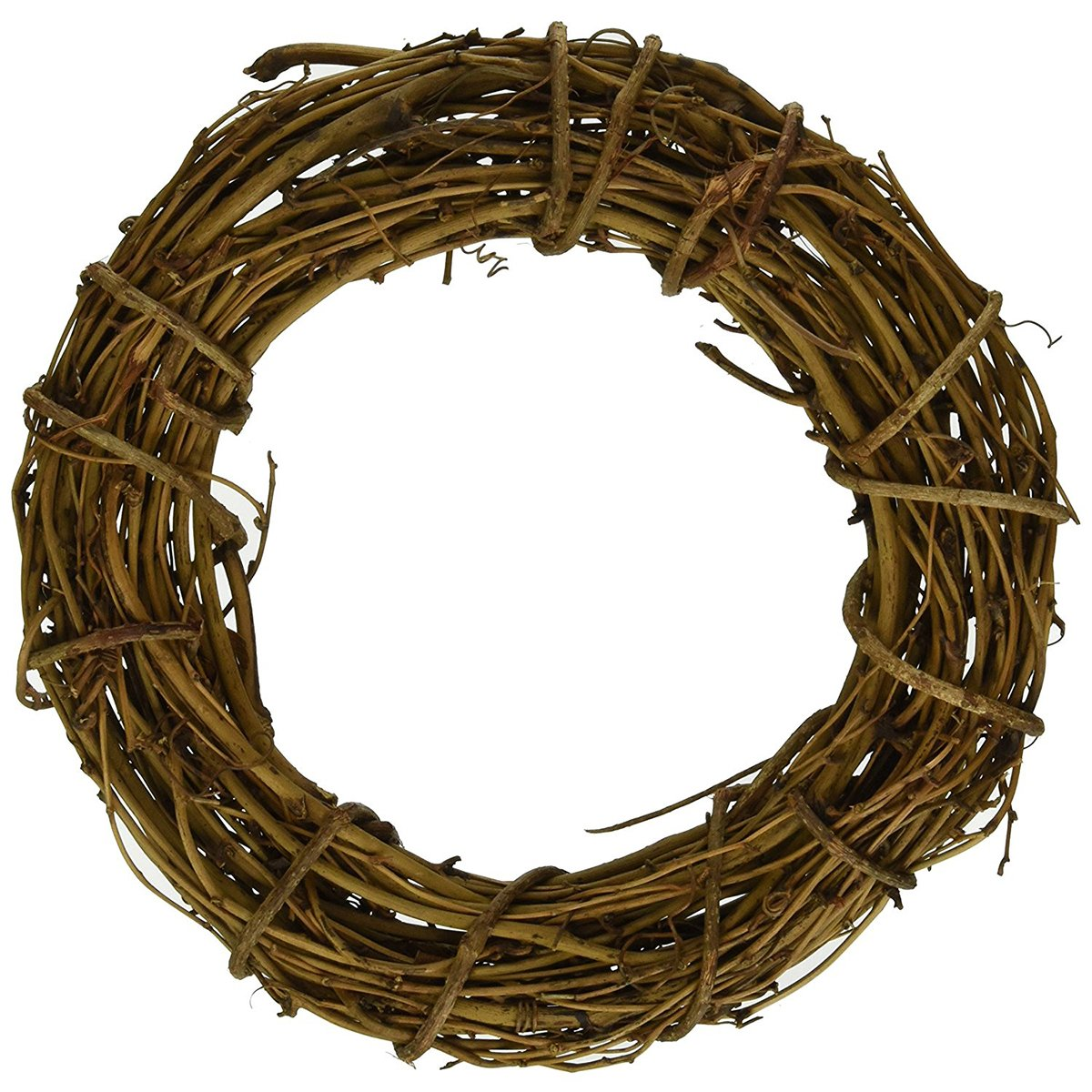 queenland Natural Grapevine Wreath Rustic Ring Wreath DIY Crafts Base for Christmas Wreath Door Garland Home Decoration Gift Hanging Decor 4 inches,Pack of 1
