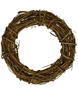 queenland Natural Grapevine Wreath Rustic Ring Wreath DIY Crafts Base for Christmas Wreath Door Garland Home Decoration Gift Hanging Decor 12 inches,Pack of 1