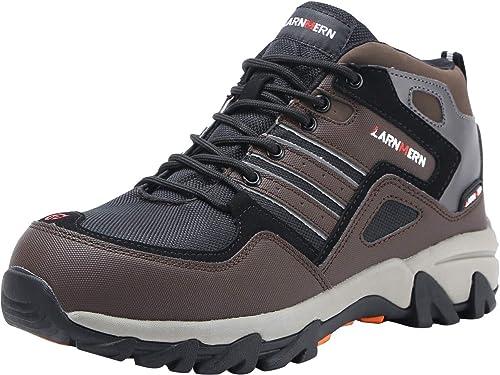 Botas de Seguridad con Punta de Acero para Hombres, Zapatos Altos antipinchazos industriales y arquitectónicos