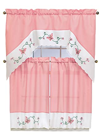 Amazon.com: Embroidered Butterfly Curtains: Home & Kitchen