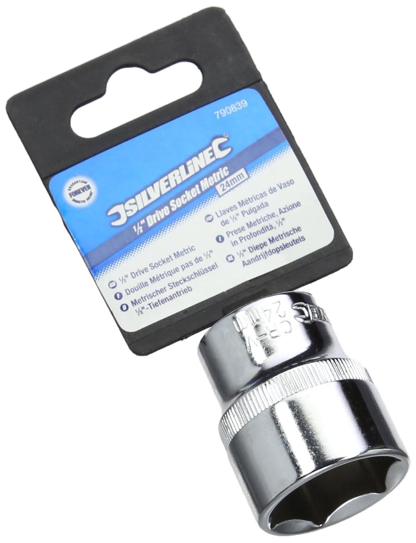Silverline 593431 Douille m/étrique 1//2 26 mm