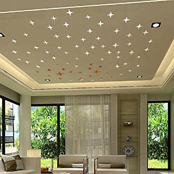 Exceptional Ikevan 1Set 50pcs Cross Acrylic Wall Stickers Art 3D Wall Mirror Stickers  DIY Home Ceiling Wall